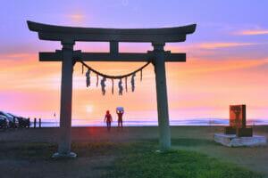 Tsurigasaki Beach in Ichinomiya